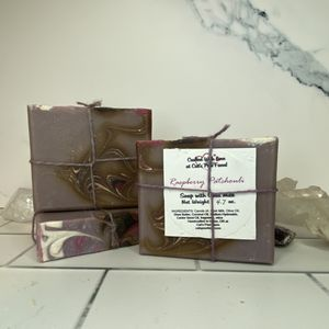 Raspberry Patchouli Scented Soap with Goat Milk
