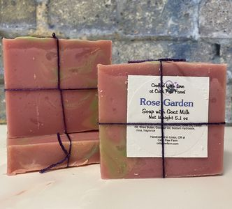 Rose Garden Scented Soap with Goat Milk