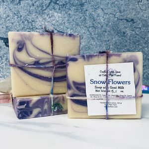 Snow Flowers Scented Soap with Goat Milk
