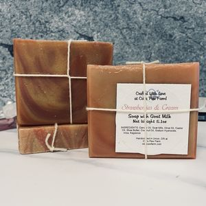 Strawberries & Cream Scented Soap with Goat Milk