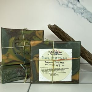 Sweetgrass Scented Soap with Goat Milk