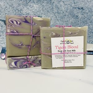 Tigers Blood Scented Soap with Goat Milk