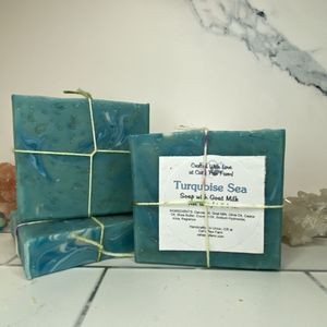 Turquoise Sea Scented Soap with Goat Milk
