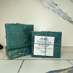 Turquoise Scented Soap with Goat Milk