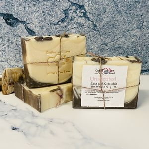 Unscented Soap with Goat Milk-Brown & Cream Colors