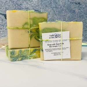White Lily and Aloe Scented Soap with Goat Milk