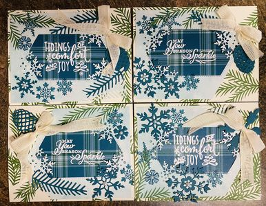 Sparkling Tidings Greeting Card 4 pack