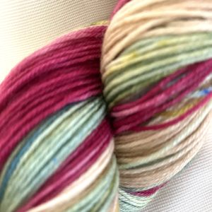 Rhubarb Fingering Handpaints Yarn