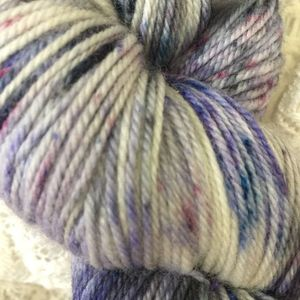 Blueberry Cashmere Fingering Handpaints Yarn