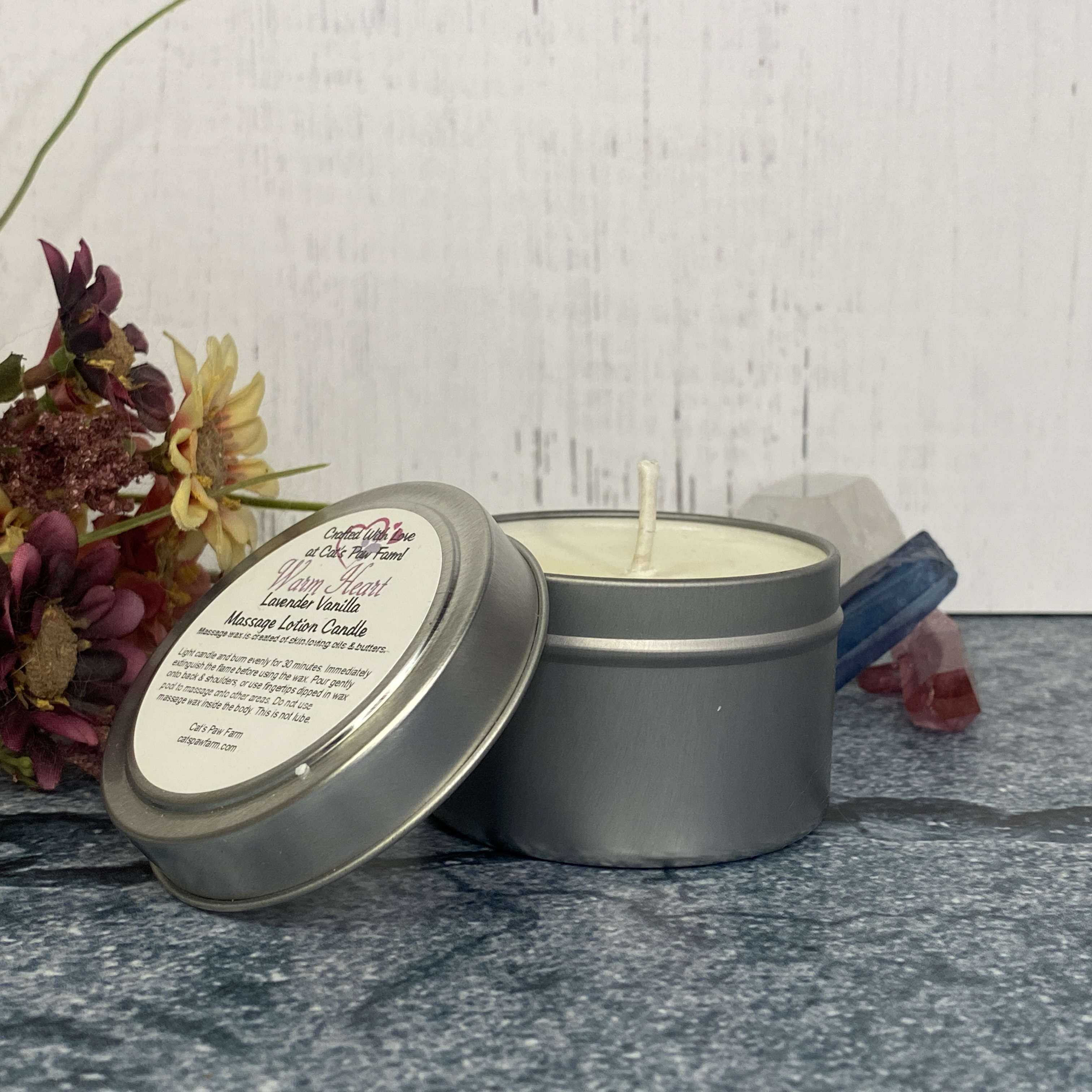 Warm Heart Massage Lotion Candle - Lavender Vanilla