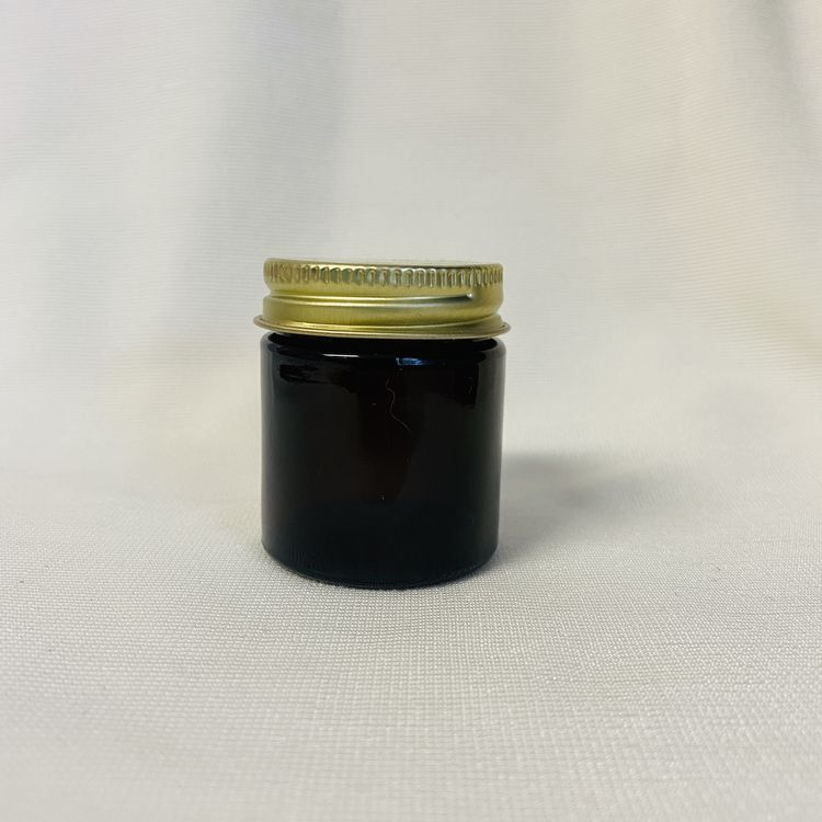 1oz Amber Glass Jar with Cap