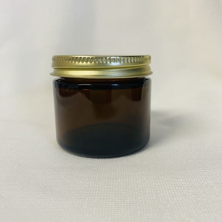 2oz Amber Glass Jar with Cap