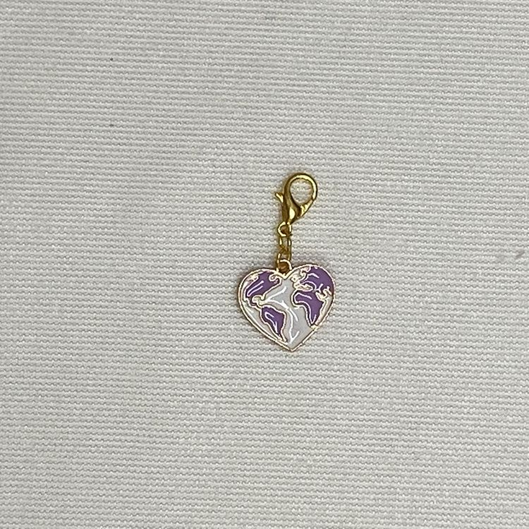 Heart World Planner Charm