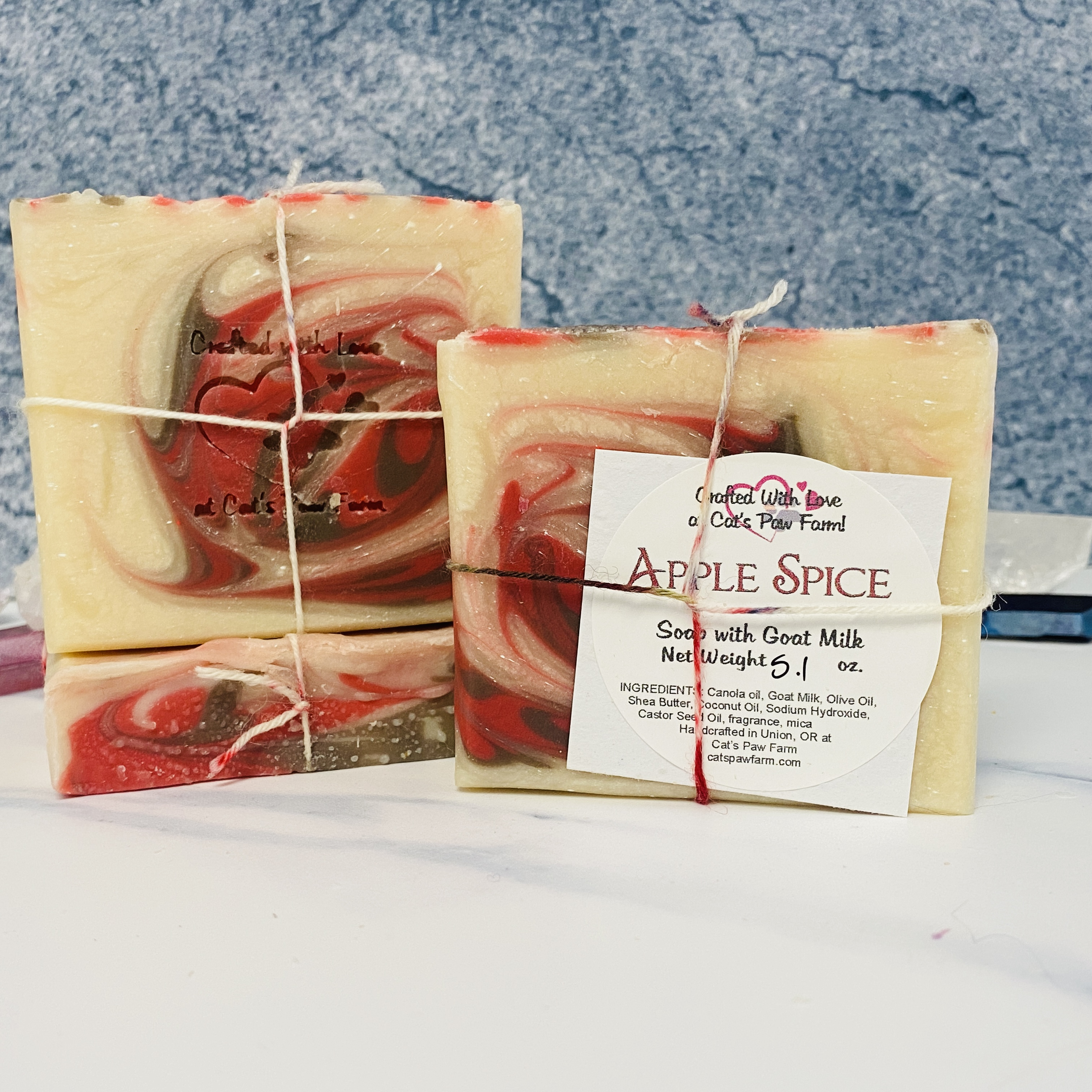 Apple Spice Scented Soap with Goat Milk