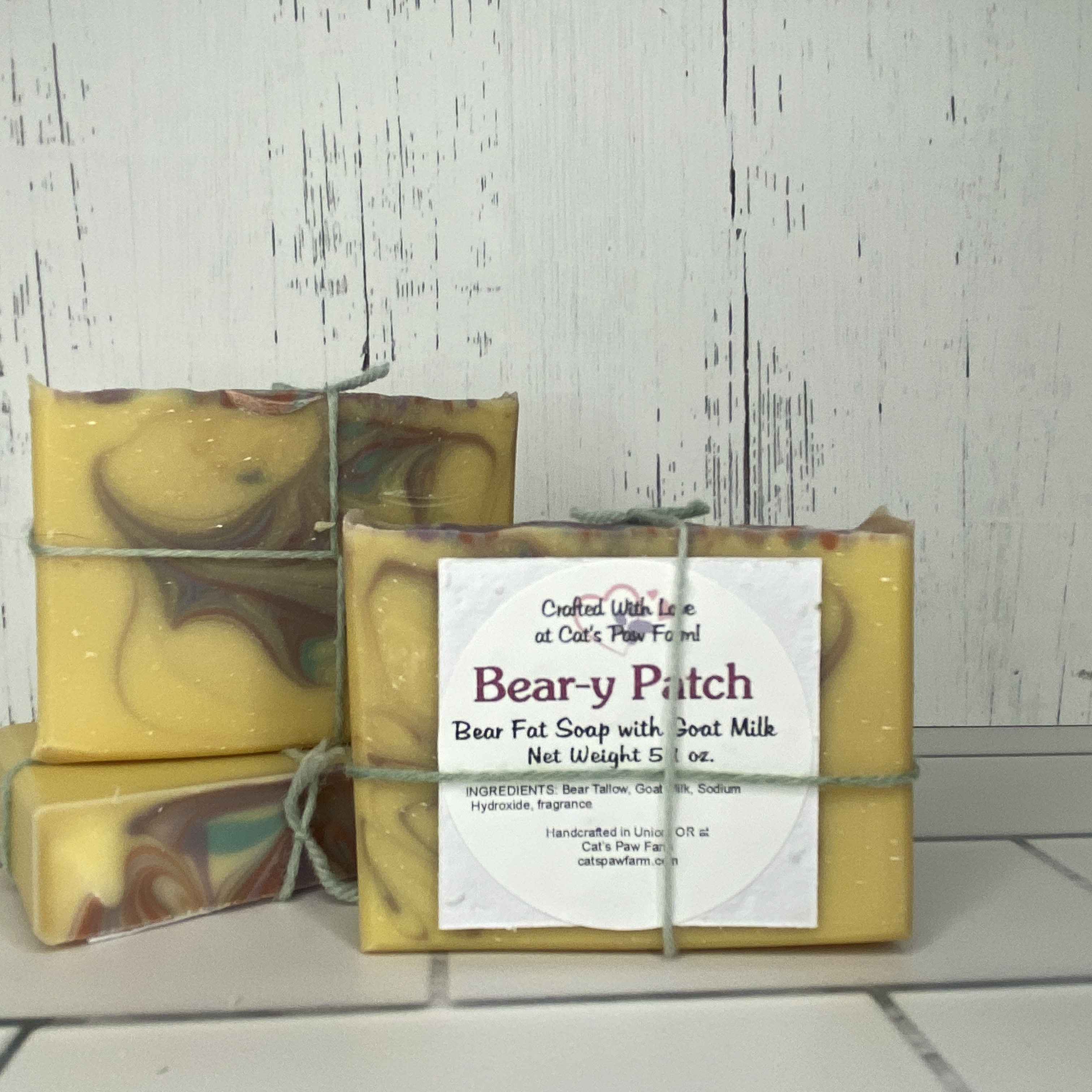 Bear-y Patch Scented Bear Fat Soap with Goat Milk