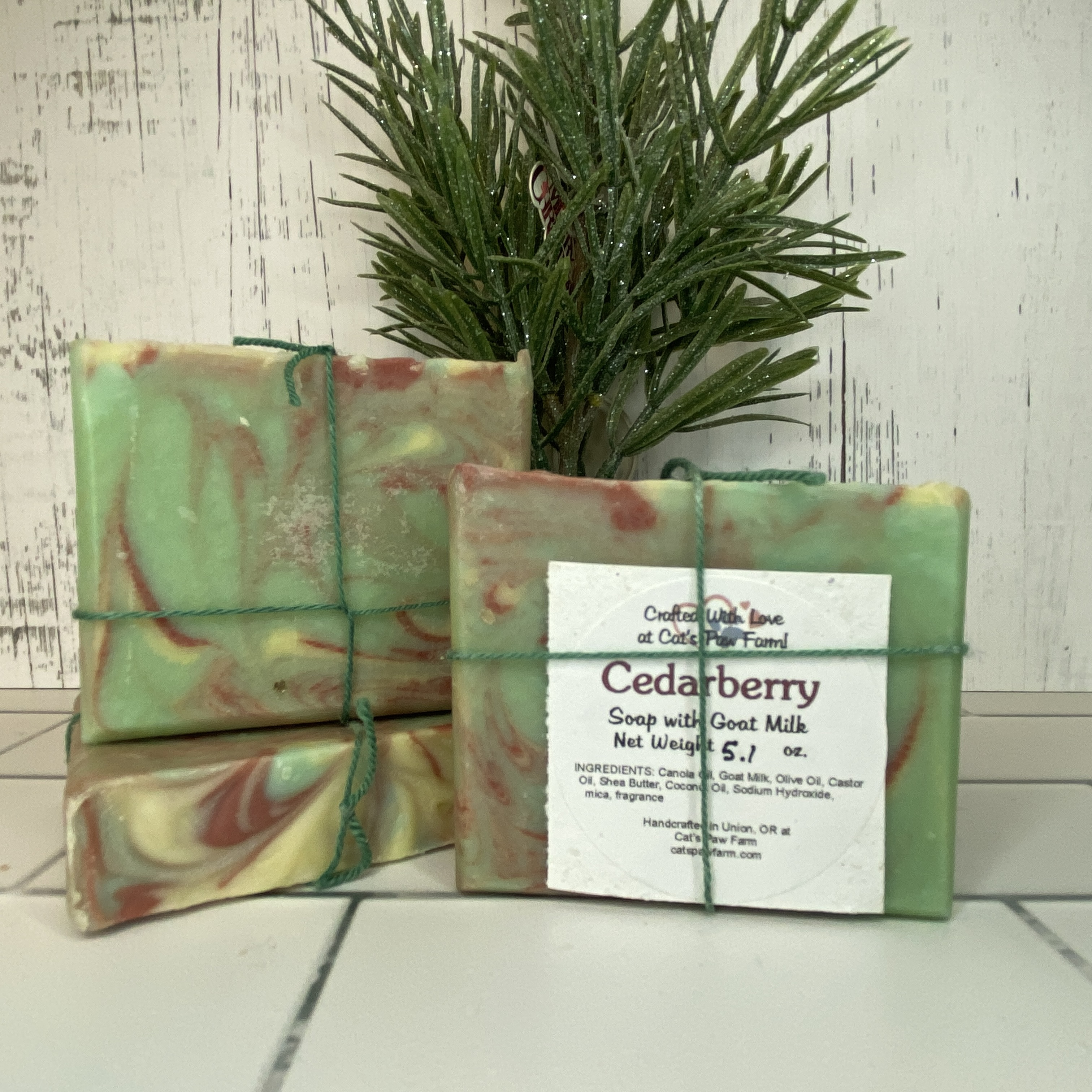 Cedarberry Scented Soap with Goat Milk