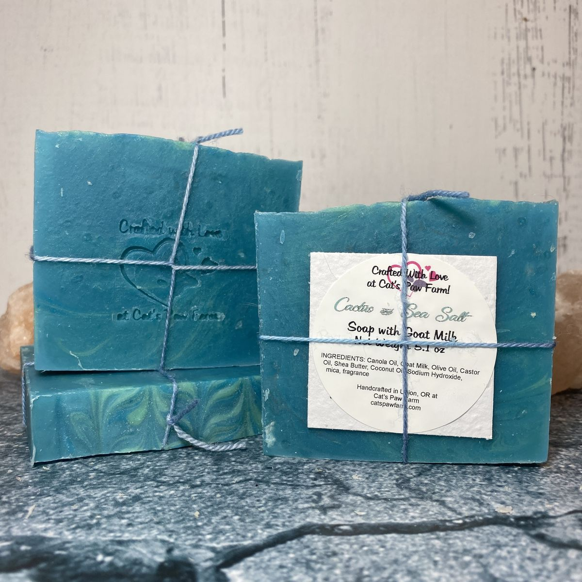 Cactus and Sea Salt Scented Soap with Goat Milk