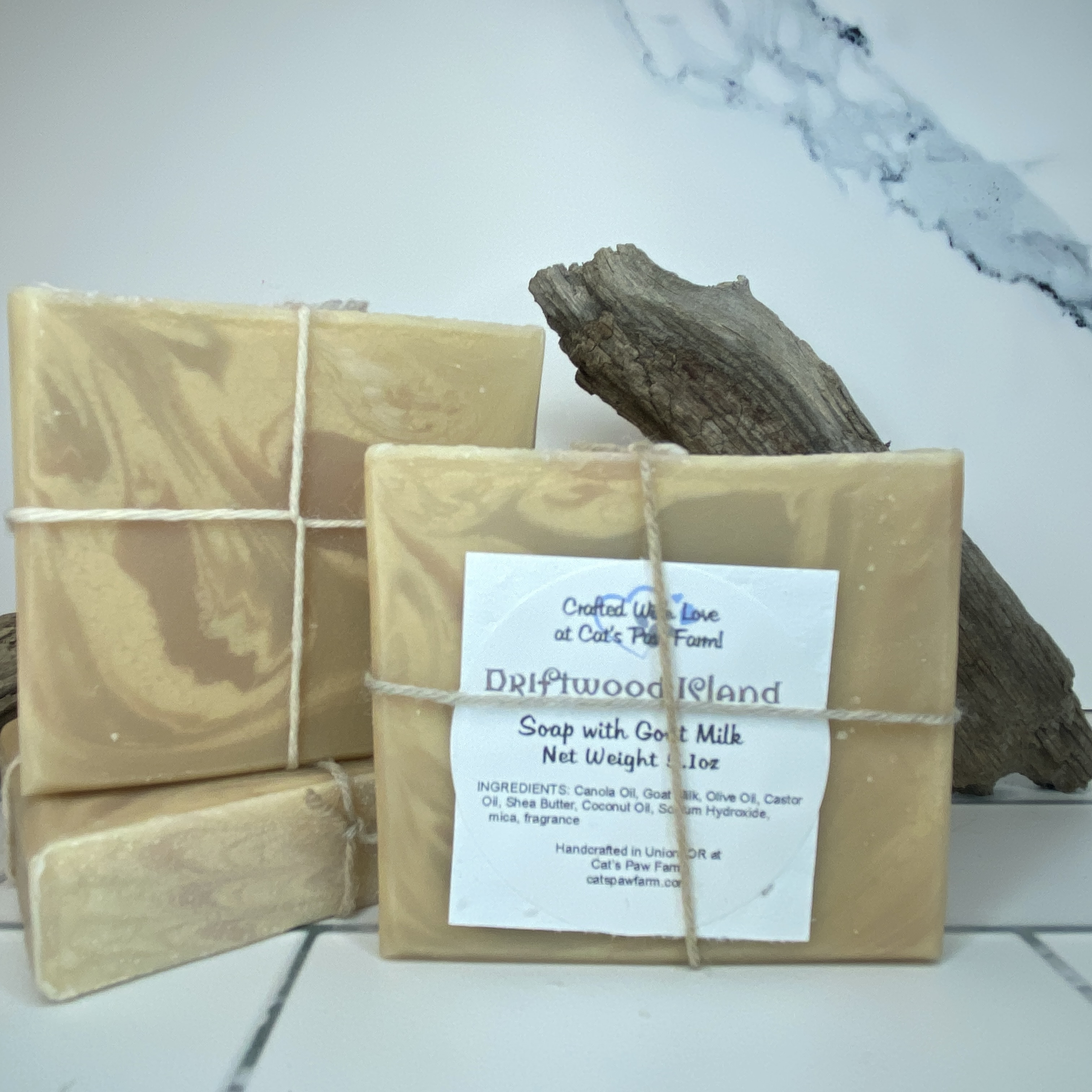 Driftwood Island Scented Soap with Goat Milk