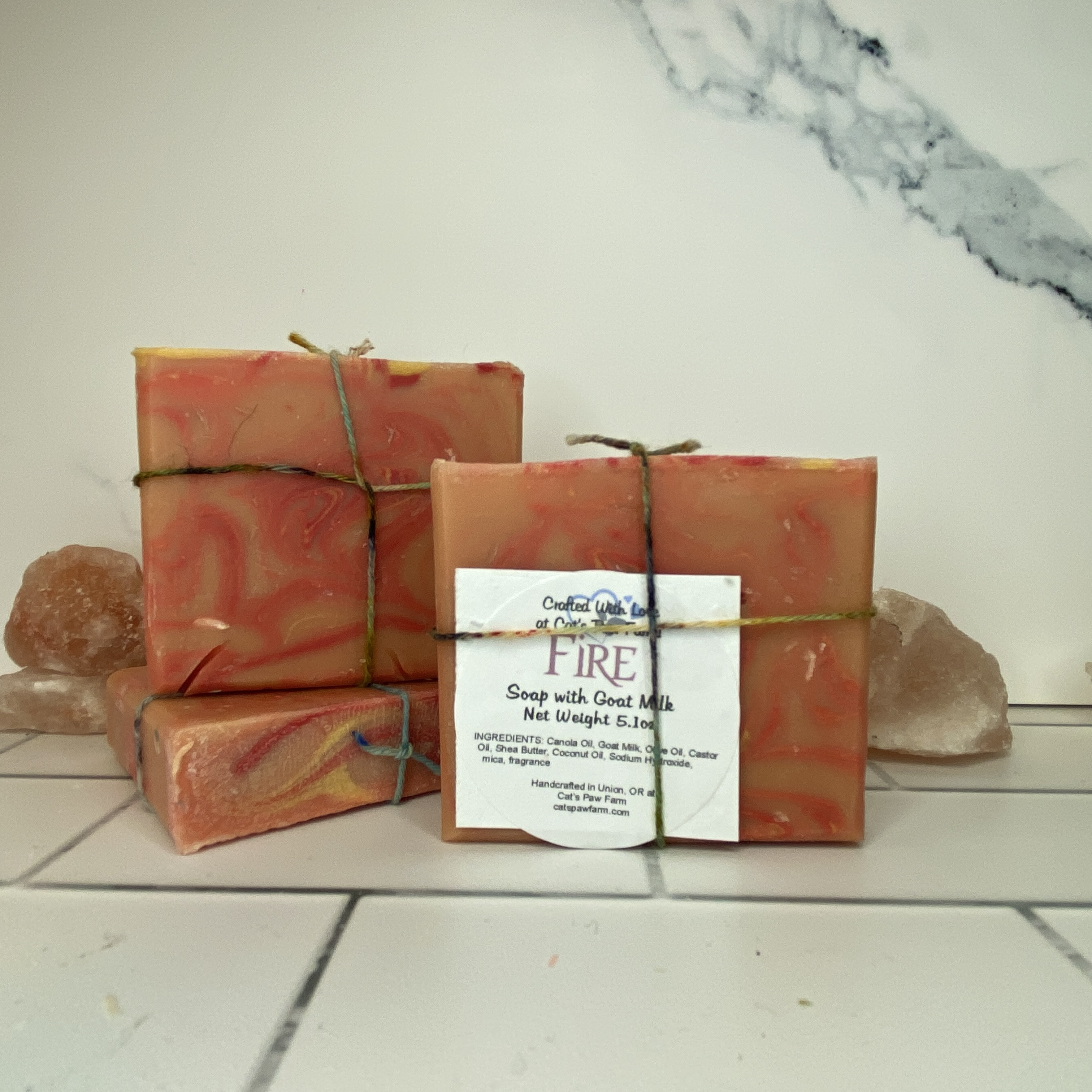 Fire Scented Soap with Goat Milk
