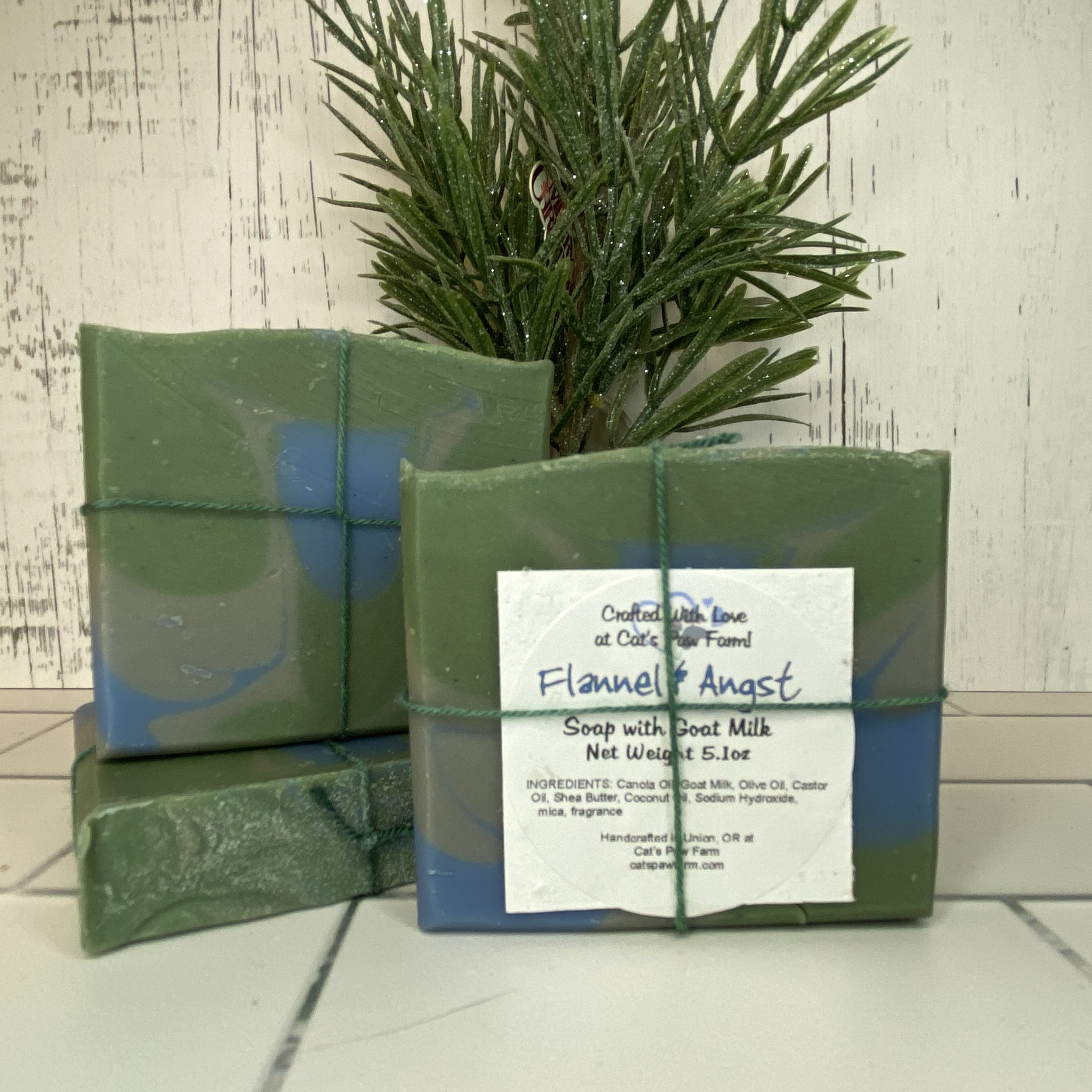 Flannel & Angst Scented Soap with Goat Milk