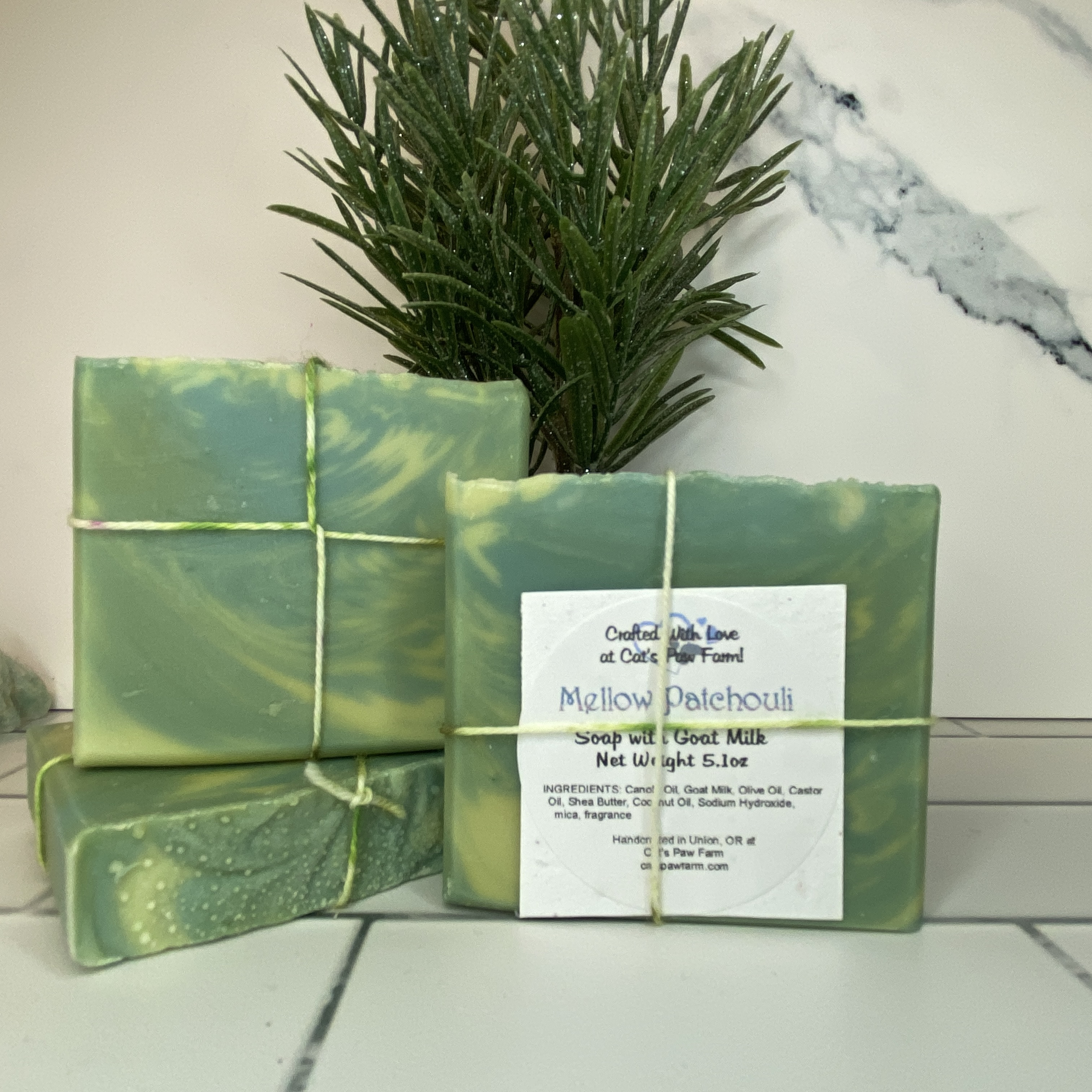 Mellow Patchouli Scented Soap with Goat Milk