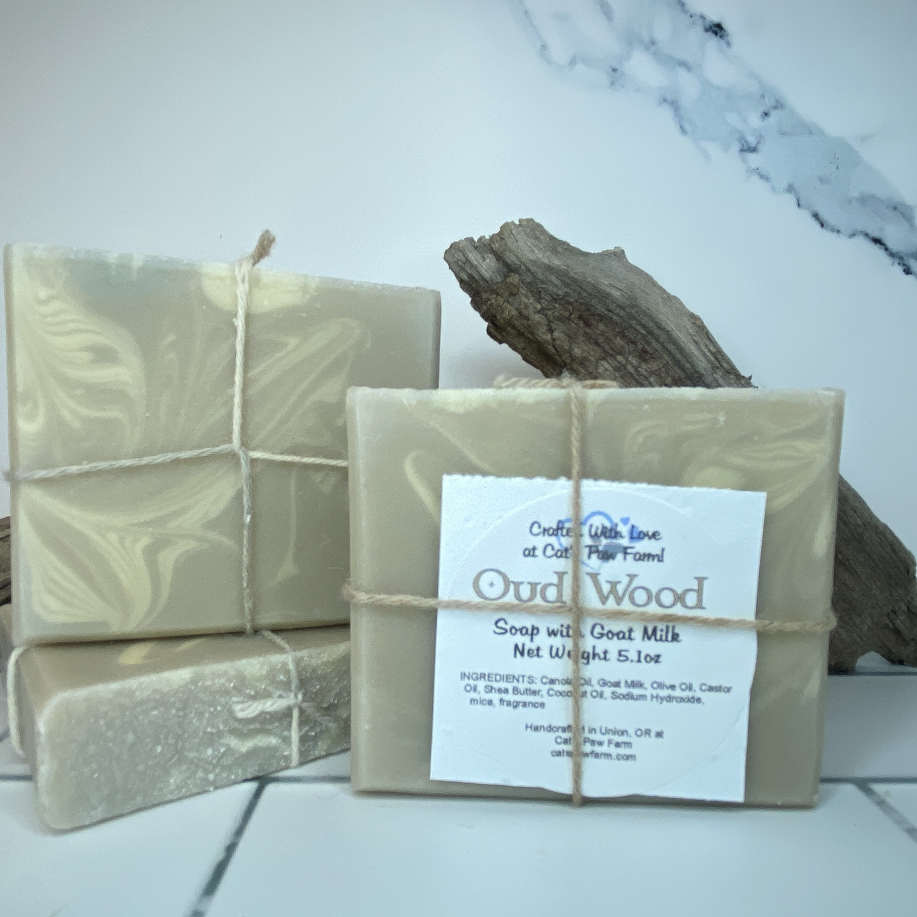 Oud Wood Scented Soap with Goat Milk