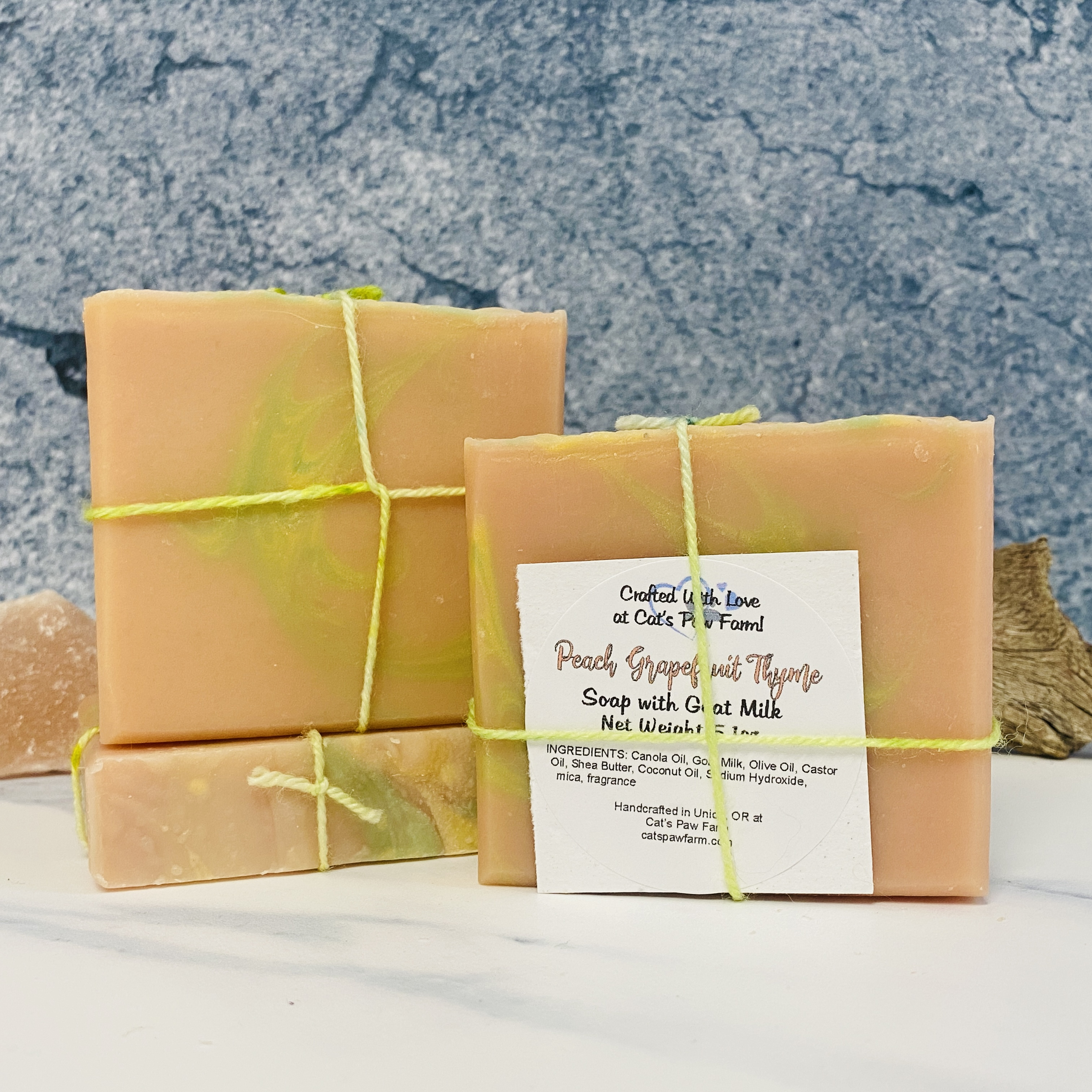 Peach Grapefruit & Thyme Scented Soap with Goat Milk