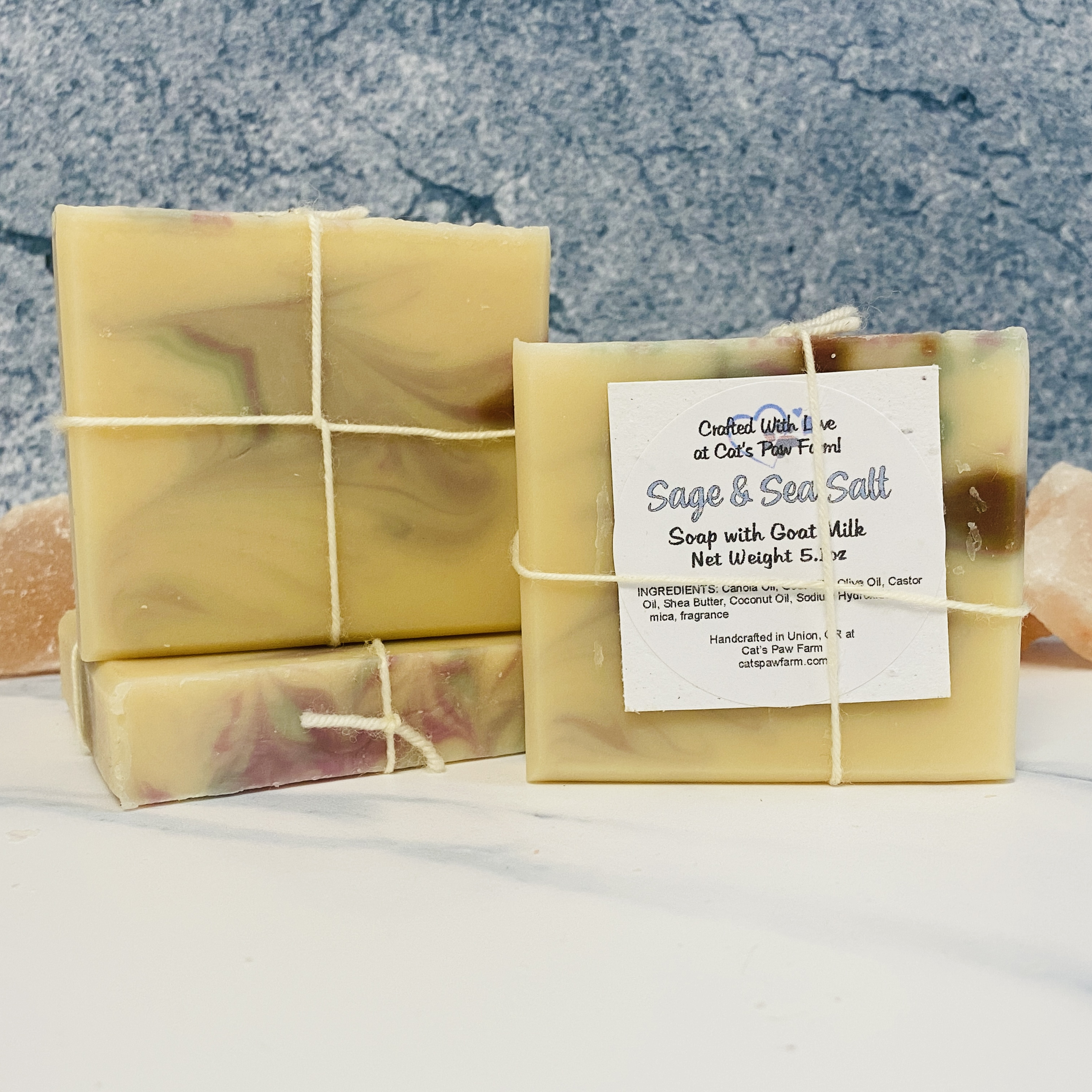 Sage & Sea Salt Scented Soap with Goat Milk