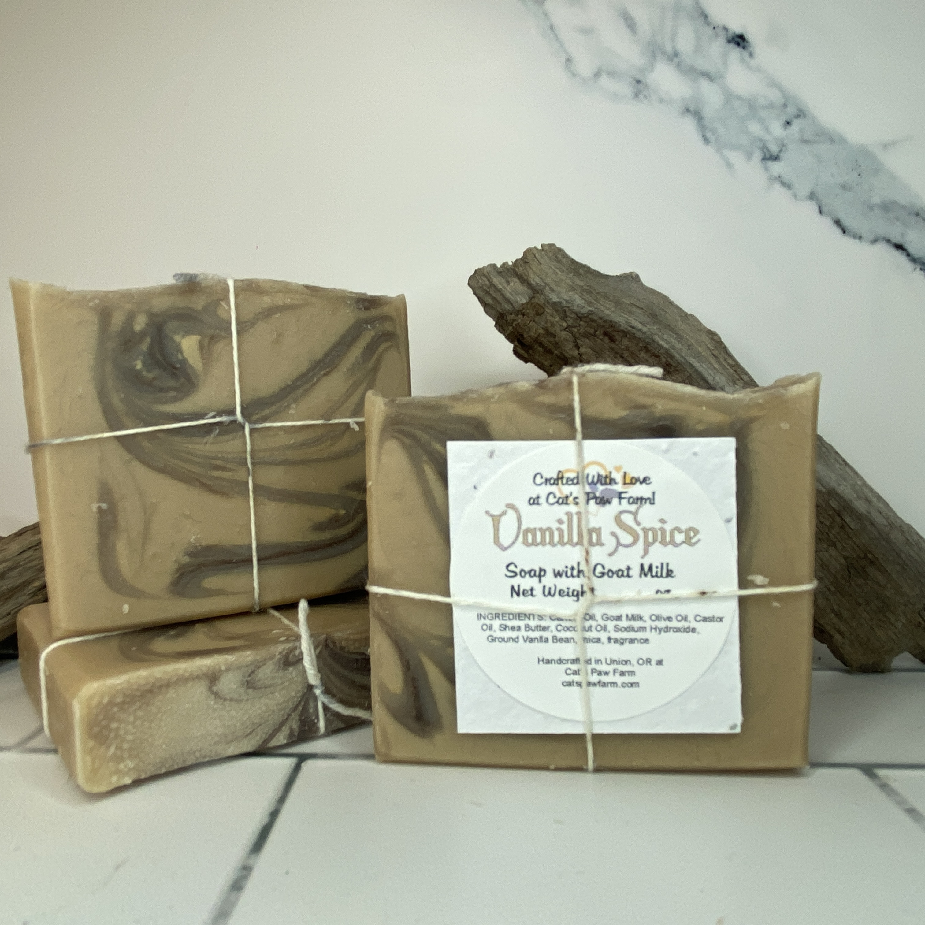 Vanilla Spice Scented Soap with Goat Milk
