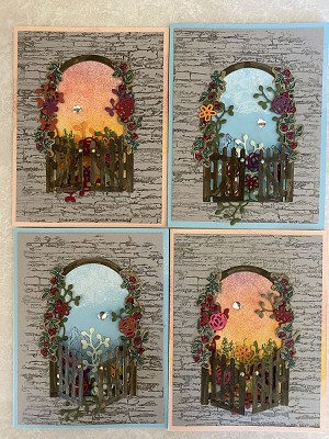 Beyond the Window Greeting Card 4 pack