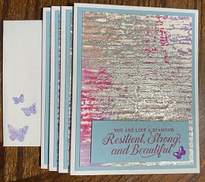 Strong & Beautiful Greeting Card 4 pack