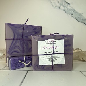 Amethyst Scented Soap with Goat Milk