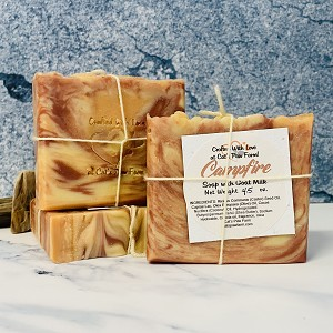Campfire Scented Soap with Goat Milk