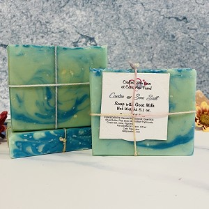 Cactus and Sea Salt Scented Soap with Goat Milk-Coconut Oil Free