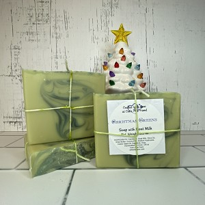 Christmas Woods Scented Soap with Goat Milk
