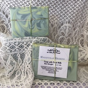 Christmas Greens Scented Soap with Goat Milk