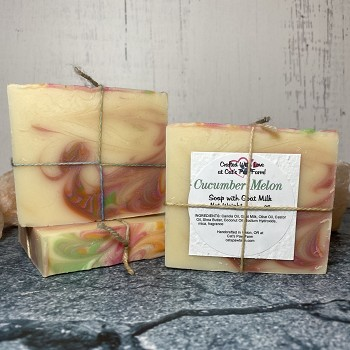 Cucumber Melon Scented Soap with Goat Milk