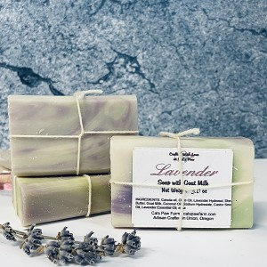 Lavender Scented Soap with Goat Milk