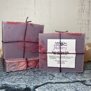 Mulberry Scented Soap with Goat Milk