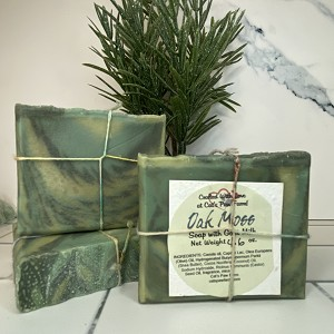 Oak Moss Scented Soap with Goat Milk