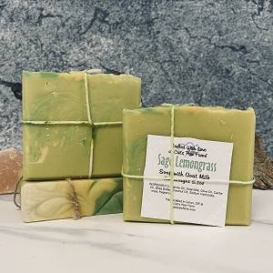 Sage Lemongrass Scented Soap with Goat Milk